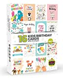 16 x KIDS Birthday Cards by Joy Masters™ Vol.1 | Multipack for Children | Large Set for Boys & Girls