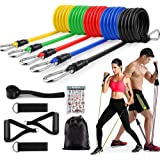 ADSDIA 12 Pack Resistance Bands for Men Women, Exercise Bands for Working Out or Home -Stackable Up to 100 lbs. Perfect…