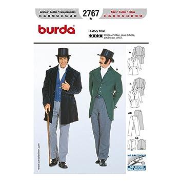 Burda Schnittmuster 2767 History 1848 Gr. 44-60: Amazon.de: Küche ...