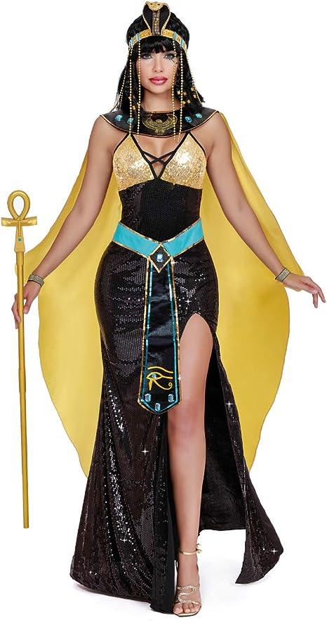 DreamGirl Disfraz de Mujer Cleopatra Ojo de Horus Carnaval Egipcio ...