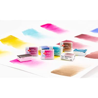 White Nights Watercolours - Set of 10 of 2020 Newest Colors awaliabe 2.5ml Full Pans Artistic Watercolours: Toys & Games