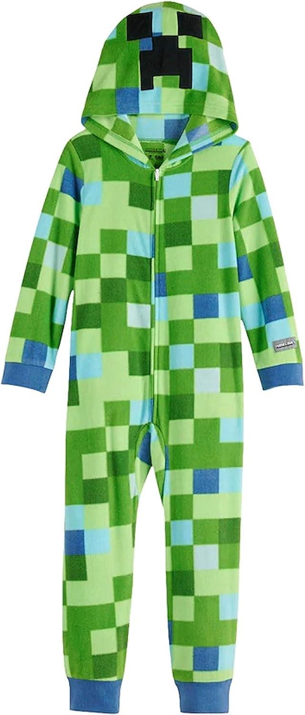 Minecraft Creeper Boys Union Suit Costume Pajamas