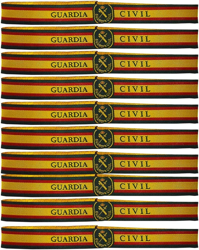 ALBERO Pulsera Tela Guardia Civil. 10 Unidades. 30 x 1.5 cm. España.: Amazon.es: Joyería