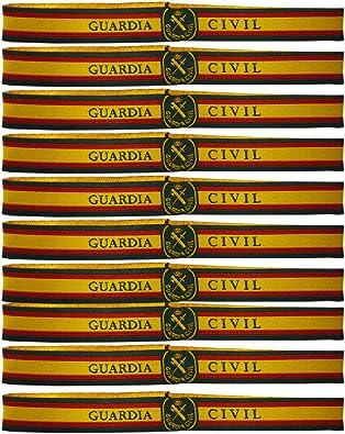 ALBERO Pulsera Tela Guardia Civil. 10 Unidades. 30 x 1.5 cm ...