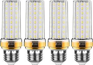 E26 LED Corn Bulb,20W LED Light Bulbs,150 Watt Equivalent,Cool White Daylight White 6000K Indoor Home Lighting,for Home, Warehouse, 85-265V,CRI80,Non-Dimmable(4 Packs)