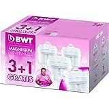 BWT Magnesium Mineralizer Pack de Cartuchos de filtrado, Blanco, 3+1
