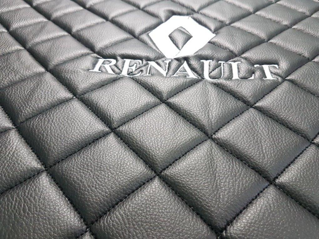 Lot de tapis de conduite /à gauche sadapter pour Renault Truck T Automat Bo/îte de Vitesse Accessoires D/écoration Noir Eco Cuir