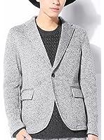 (ベストマート)BestMart 英国スタイル ツイードプリント 起毛 裏フリース テーラードジャケット メンズ 1B ビジネス 818602