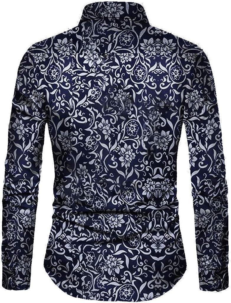 Pandaie Mens Shirts Blouse-Mens Long Sleeve Shirt Long African National Style Printing Shirt Jacket Party Tops