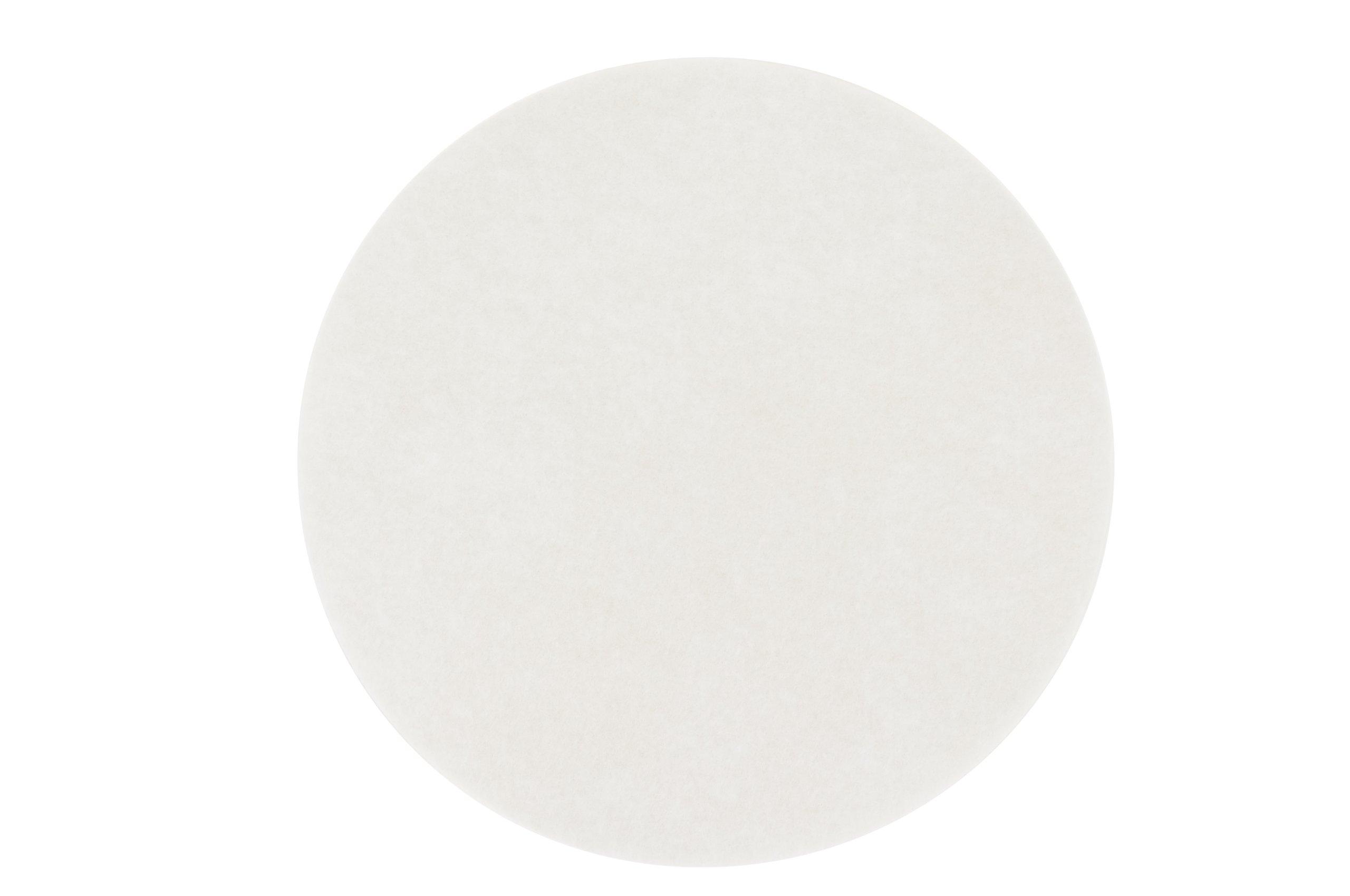 3M 8611 Carpet Bonnet Pad, 16'', White (Case of 5)