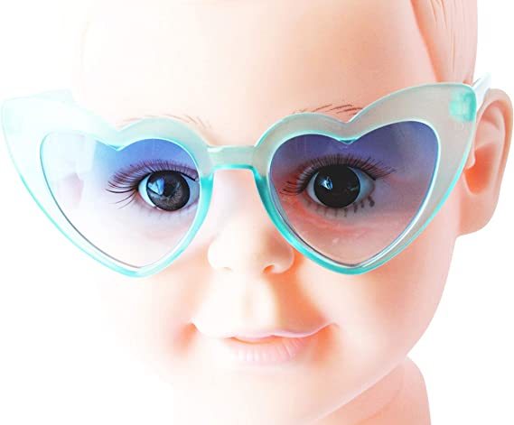 Kd3043-vp Kids 3~10 year old children plastic heart Sunglasses glasses
