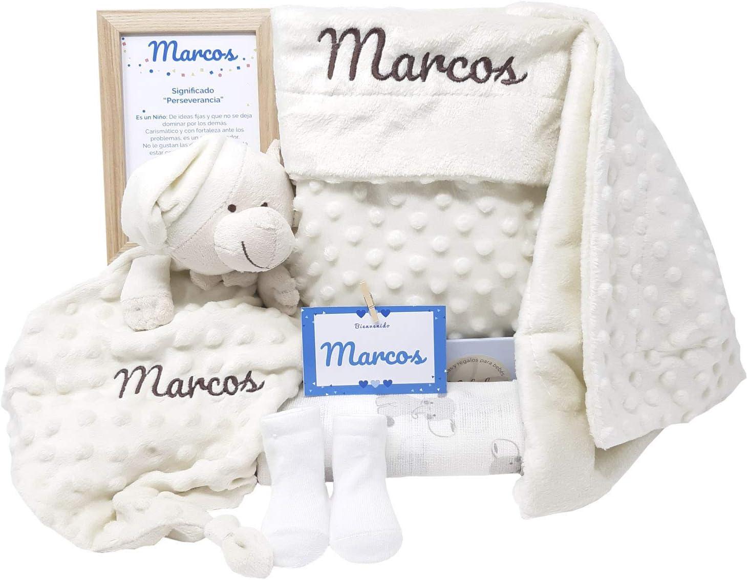 MabyBox True colours | Canastilla bebe | Regalo Babyshower | Cesta Bebé Recien nacido Personalizada (Beige)