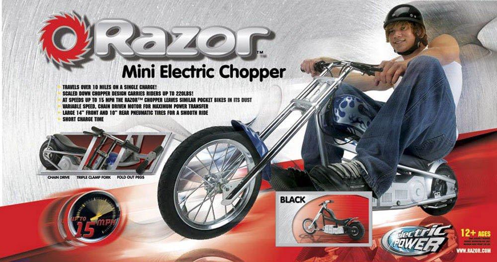 Razor Electric Mini Chopper Bike Black Sports