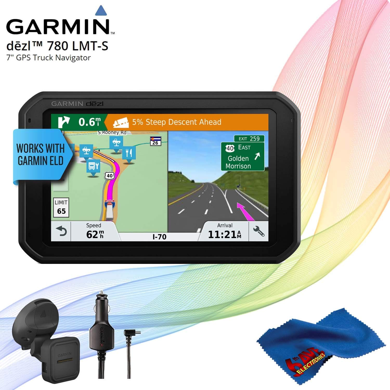 Garmin dezl 780 LMT-S Advanced GPS for Trucks + Cleaning Cloth by Garmin
