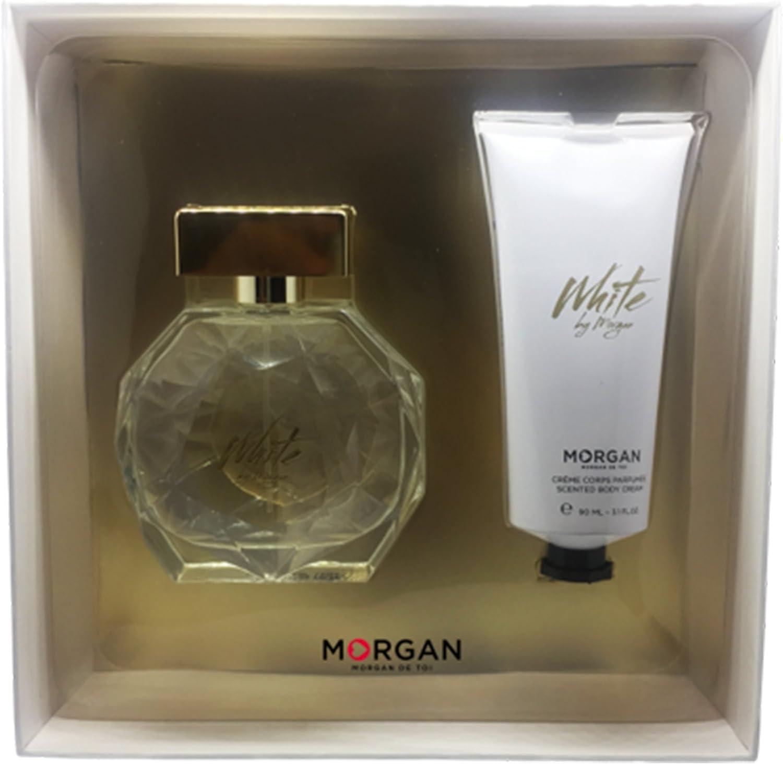Morgan White by Morgan estuche Perfume/crema para cuerpo: Amazon.es: Belleza
