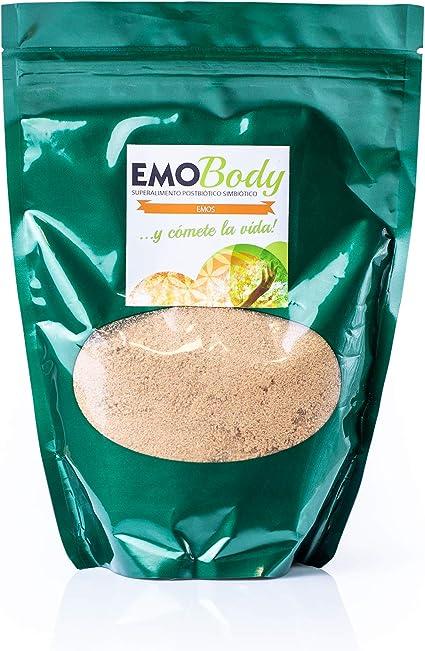 EMO Body Prebiótico 500 gr Salvado de Arroz Fermentado – Más de 100 Cepas – Bacterias Acido Lácticas y Hongos Benéficos – 33.000 Millones de UFC: Amazon.es: Salud y cuidado personal