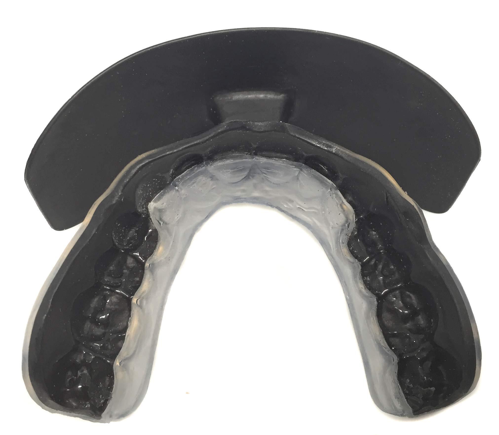 Impact Custom Professional Football Mouthguard & Lip Guard Black