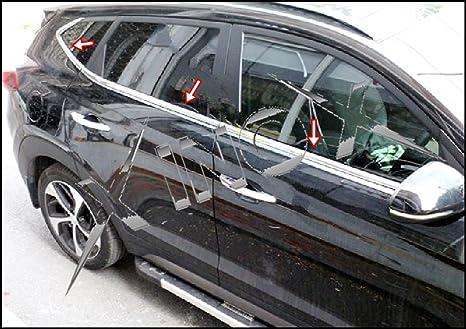 Hyundai Tucson cromo Windows Marco, 6 piezas Inox 2015 +