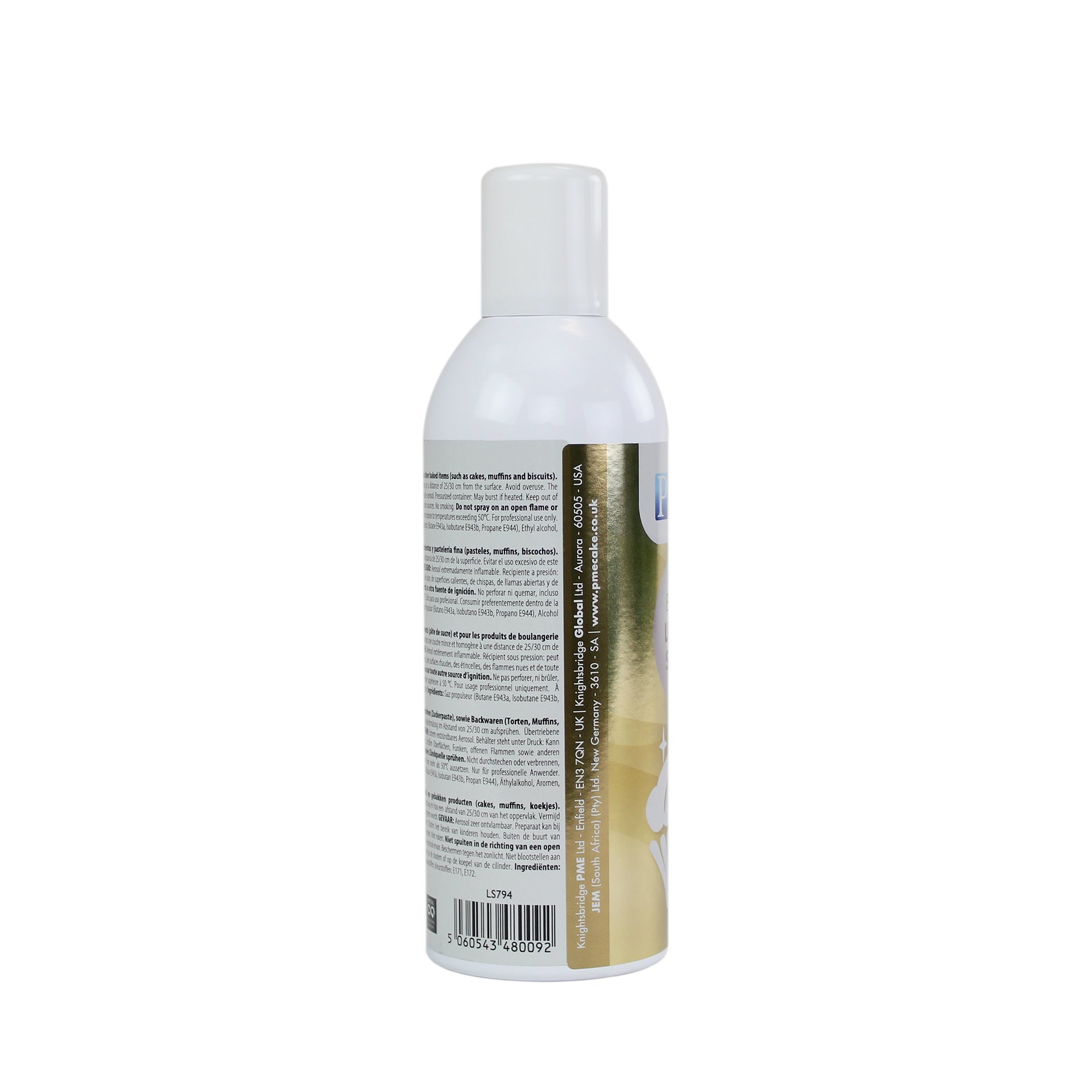 PME LS794 Tall Edible Lustre Spray Tall Can-400ml (13.5 oz), Tall, Gold by PME (Image #5)