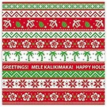 Ugly Sweater Hawaiian Christmas Holiday Continuous Gift Wrap Paper 2 Rolls