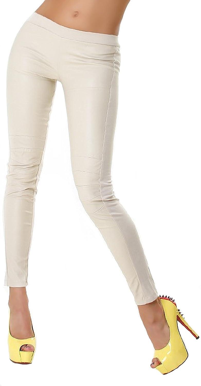 211e716dc8a72b Voyelles Damen Wet-Look Lederimitat Leggings Treggings Stoff & Kunstleder  30 32 34 36: Amazon.de: Bekleidung