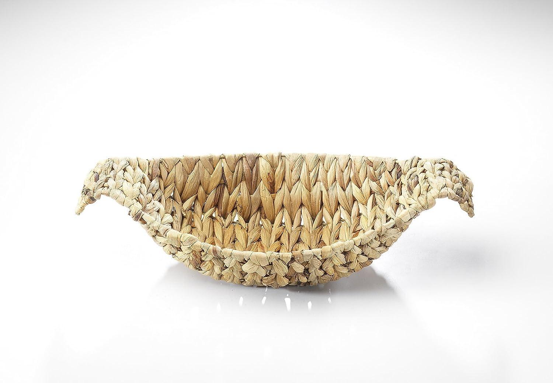 Kobolo Dekoschale Dekokorb Flechtschale Flechtkorb aus Wasserhyazinthe