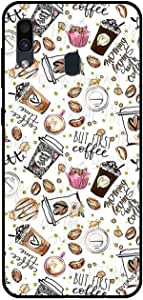 For Samsung Galaxy A30 Case But First Coffee Girly Tags