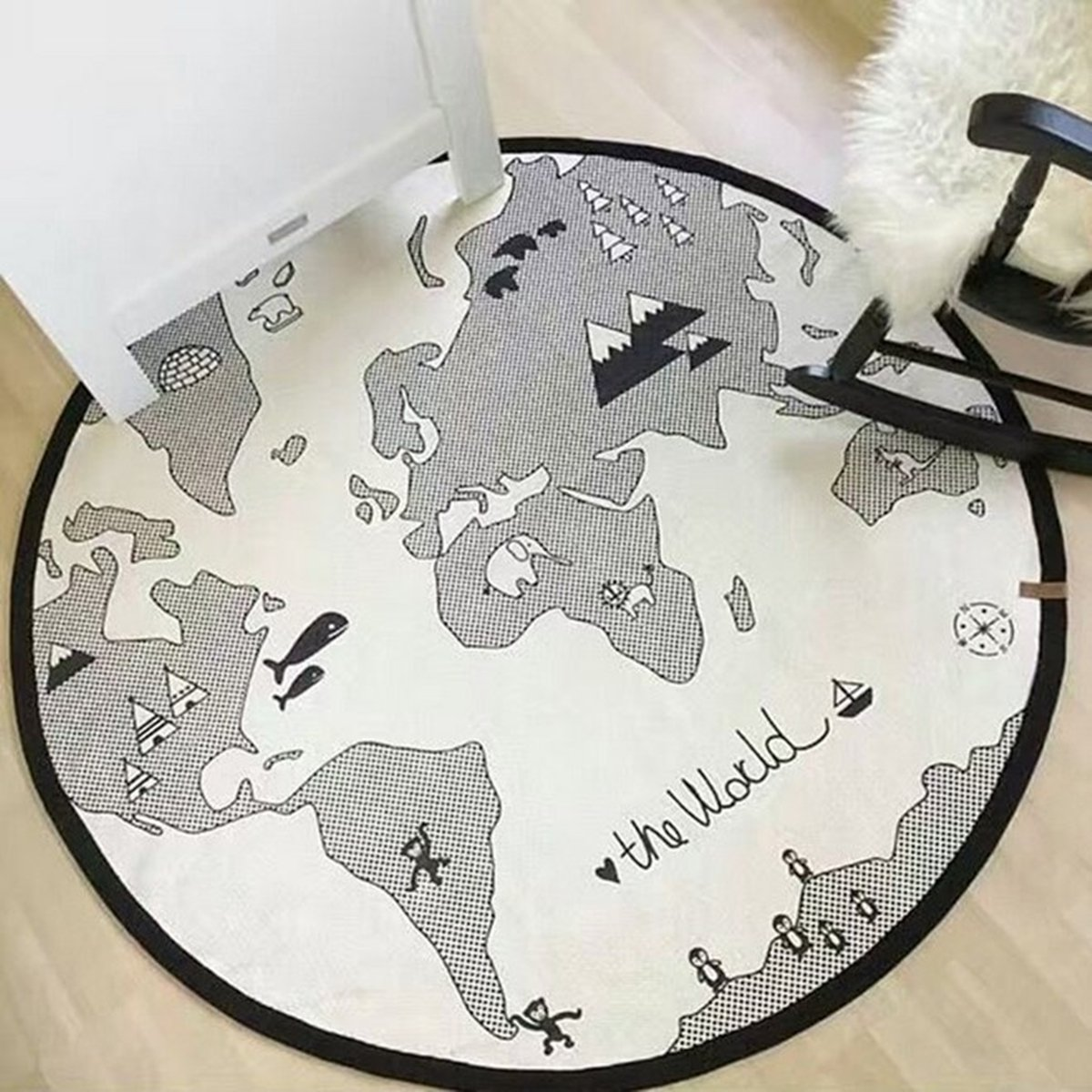 World Map Baby Rug
