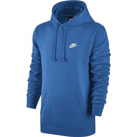 298a283c7c642 Nike Club Sweat à Capuche en Polaire pour Homme S Signal Blue White