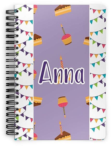 Amazon.com: Feliz cumpleaños espiral cuaderno (personalizado ...