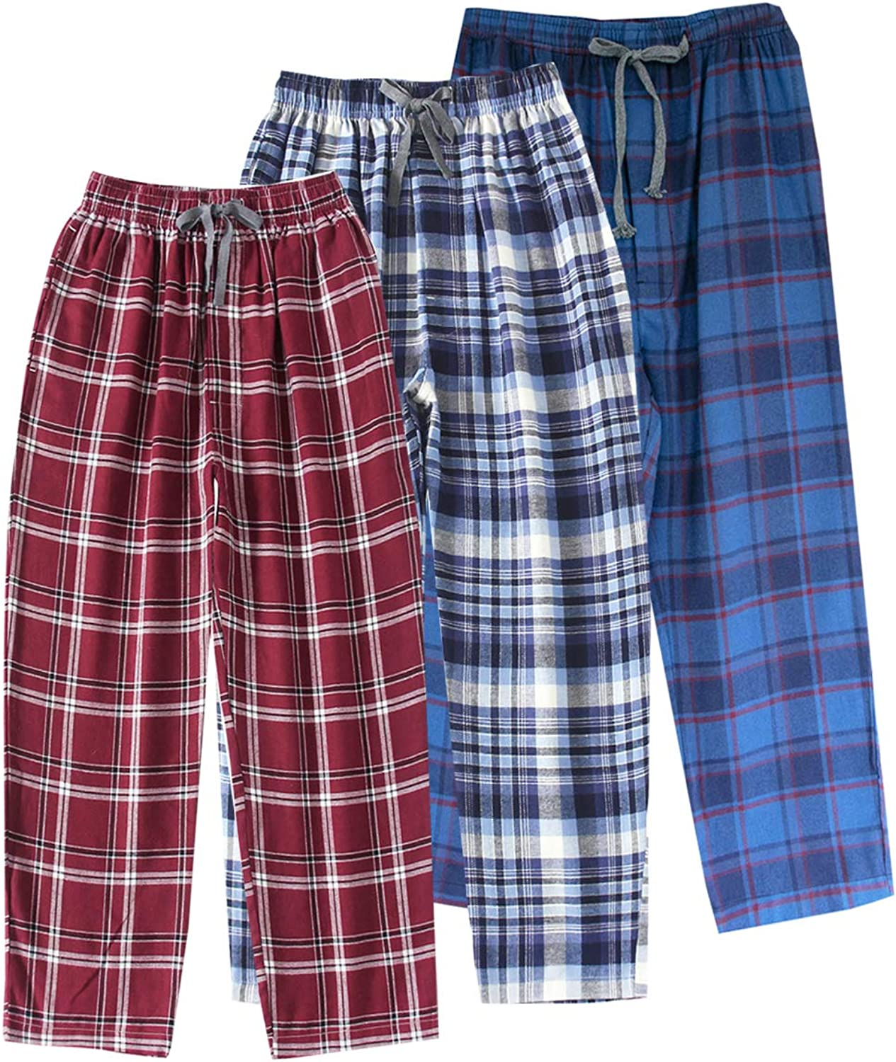Spring/&Gege Boys Plaid Soft Lightweight 100/% Cotton Flannel Pajamas Pants