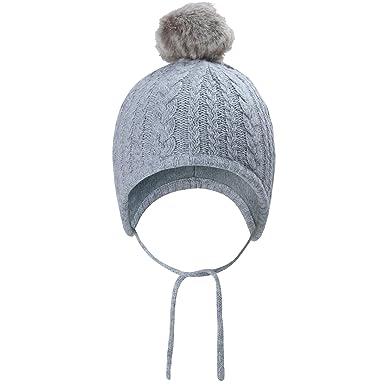 vivobiniya Baby Girl Winter pom pom Hats Kid Girl Knitted Cap 0-4years Old ( 3e2530e5bf3