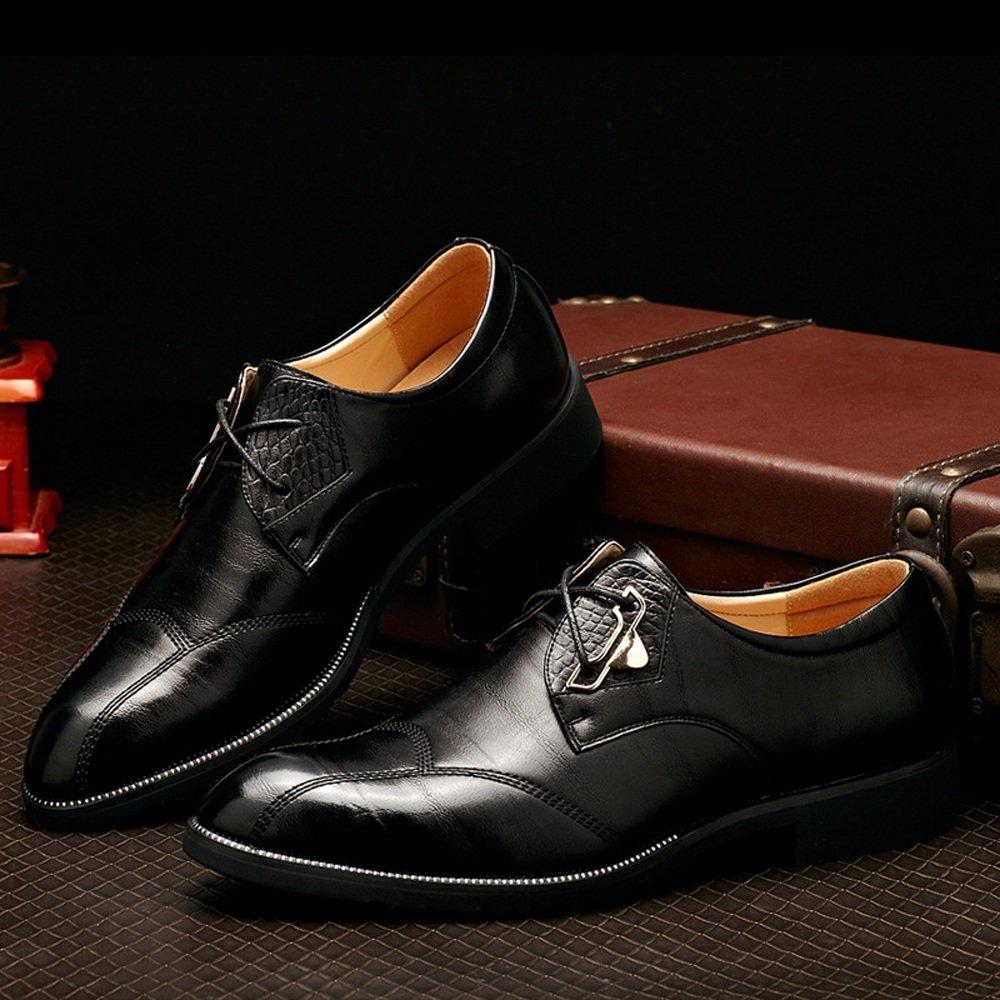 Lederschuhe Herren Lederschuhe Klassische Kleid Schuhe Split PU Formale Leder Lace up Business Formale PU Oxfords Schuhe schwarz 83569b