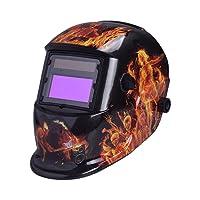 Nuzamas Fonctionne à l'énergie solaire Auto Assombrissement soudeur Masque de soudure protection du visage pour arc TIG MIG broyage Plasma de coupe avec un Abat-jour réglable Gamme DIN4/9–13protection UV/IV Din16
