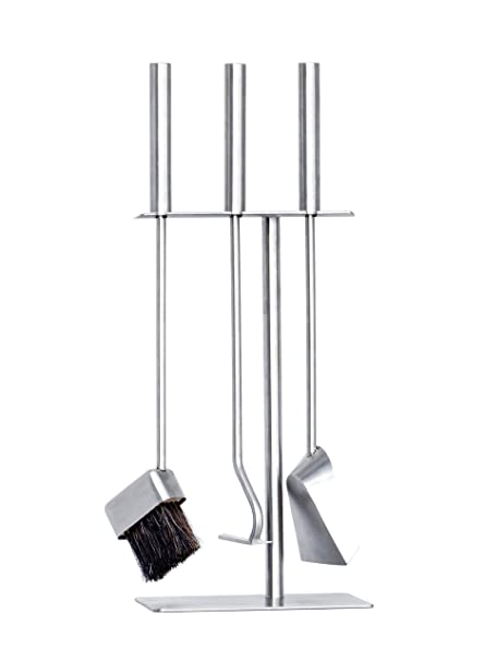 b7b7eef2f09f9 HANSA Premium Fireplace Tools Set (3 Parts) SS Stainless Steel Square  Hanger Modern, Fire Tools Companion Set Accessories Fireside Stainless  Steel ...