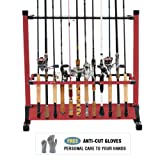 Amazon Price History for:FISHINGSIR Fishing Rod Rack - 28 Wood Rod Holder with Wheels/24 Aluminum Pole Stand Rod Storage Organizer for All Fishing Rods and Combos (Extra Cut Proof Gloves as Gift)