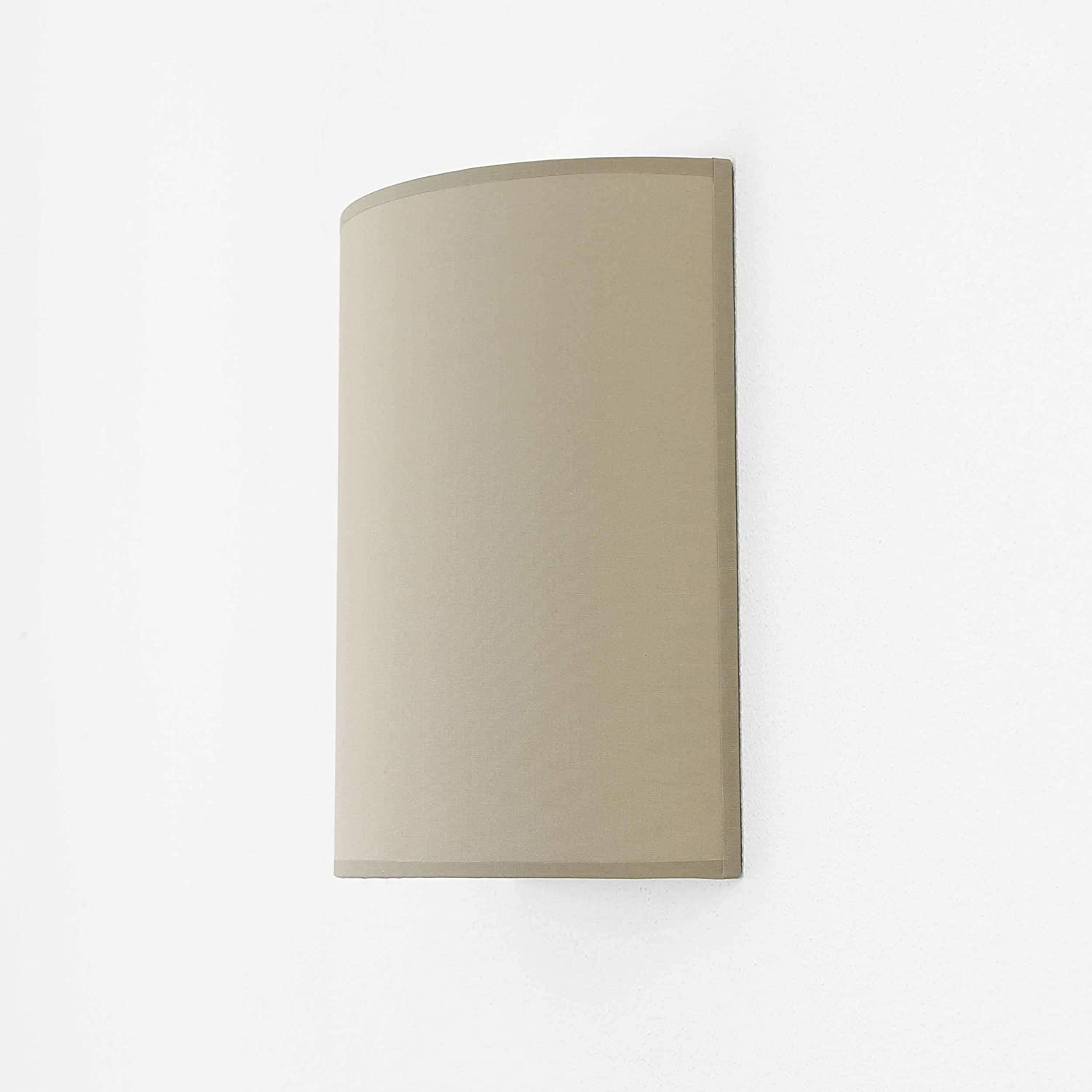 60W 230V Wall lamp Compact Inside//Lighting Living Room Bedroom Wall Light loft//Contemporary Style//Brown//Fabric Shade 1x E27 up to max