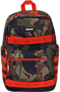 "FORTNITE  Boys Girls 18/"" CAMO Camoflauge Multiplier Backpack Laptop Backpack Bag"