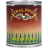 General Finishes WYQT Water Base Wood Stain, 1 quart, Brown Mahogany