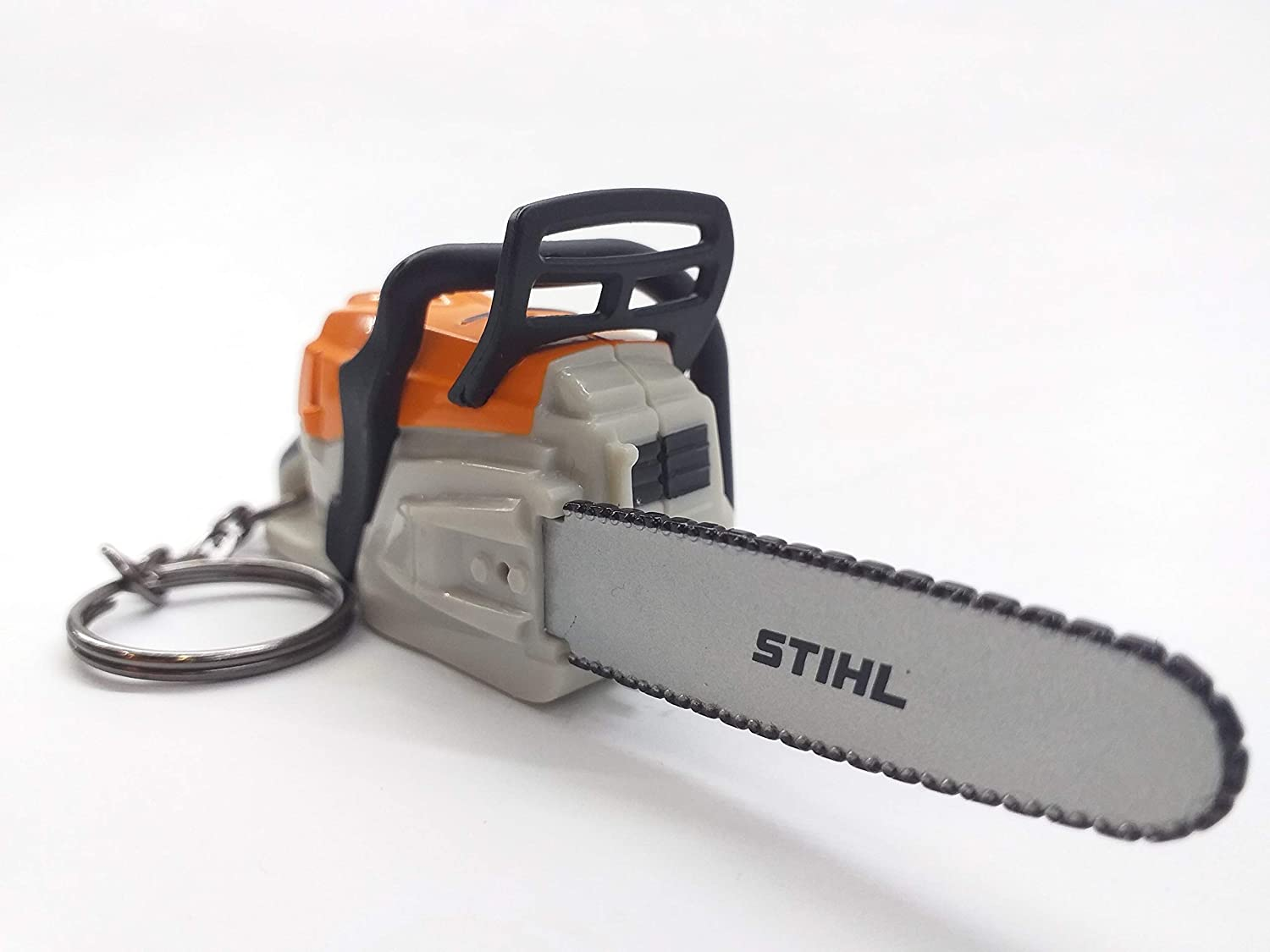 Stihl Battery Operated Chainsaw Keyring - With Sounds: Garden & Outdoor