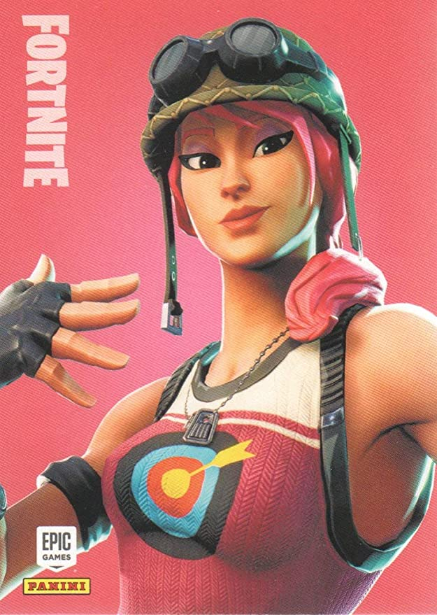 Fortnite Trading Card No 189-Red-Nosed Raider-RARE-Crystal Foil Parallel