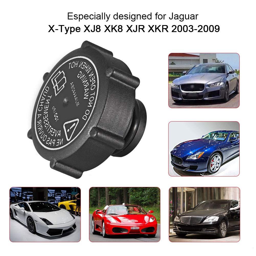 tapa del dep/ósito de expansi/ón del dep/ósito del refrigerante del coche del ABS para X-Type XJ8 XK8 XJR XKR 2003-2009 Dep/ósito De Refrigerante Tapa Del Tanque De La Botella
