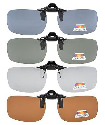 fa0a429f54 Eyekepper Aufklappbare Sonnenbrille Polarisierte 59x39 MM 4er Pack Metall  Brille Clip