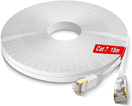 Glcon Cat7 Netzwerkkabel 15m High Speed Ethernet Kabel Elektronik