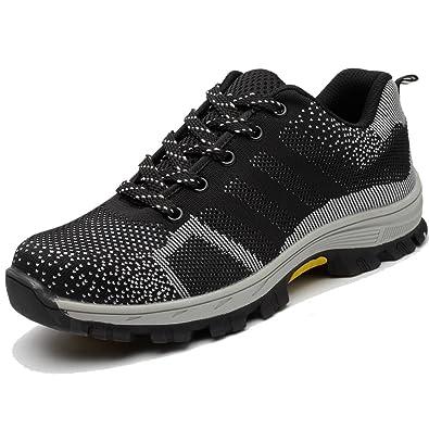 e5612b52fd4 Amazon.com: TeLe Xia Mens Safety Shoes Summer Fashion Breathable ...