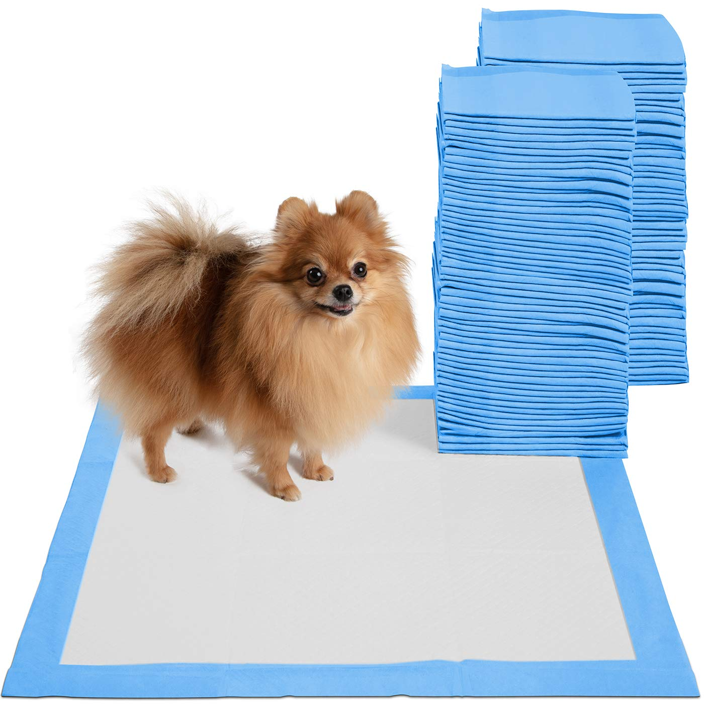 20 x 20 Pet Training Potty Pee Pads for Dogs and Cats – 30, 100, and 150 Count (100 Count)