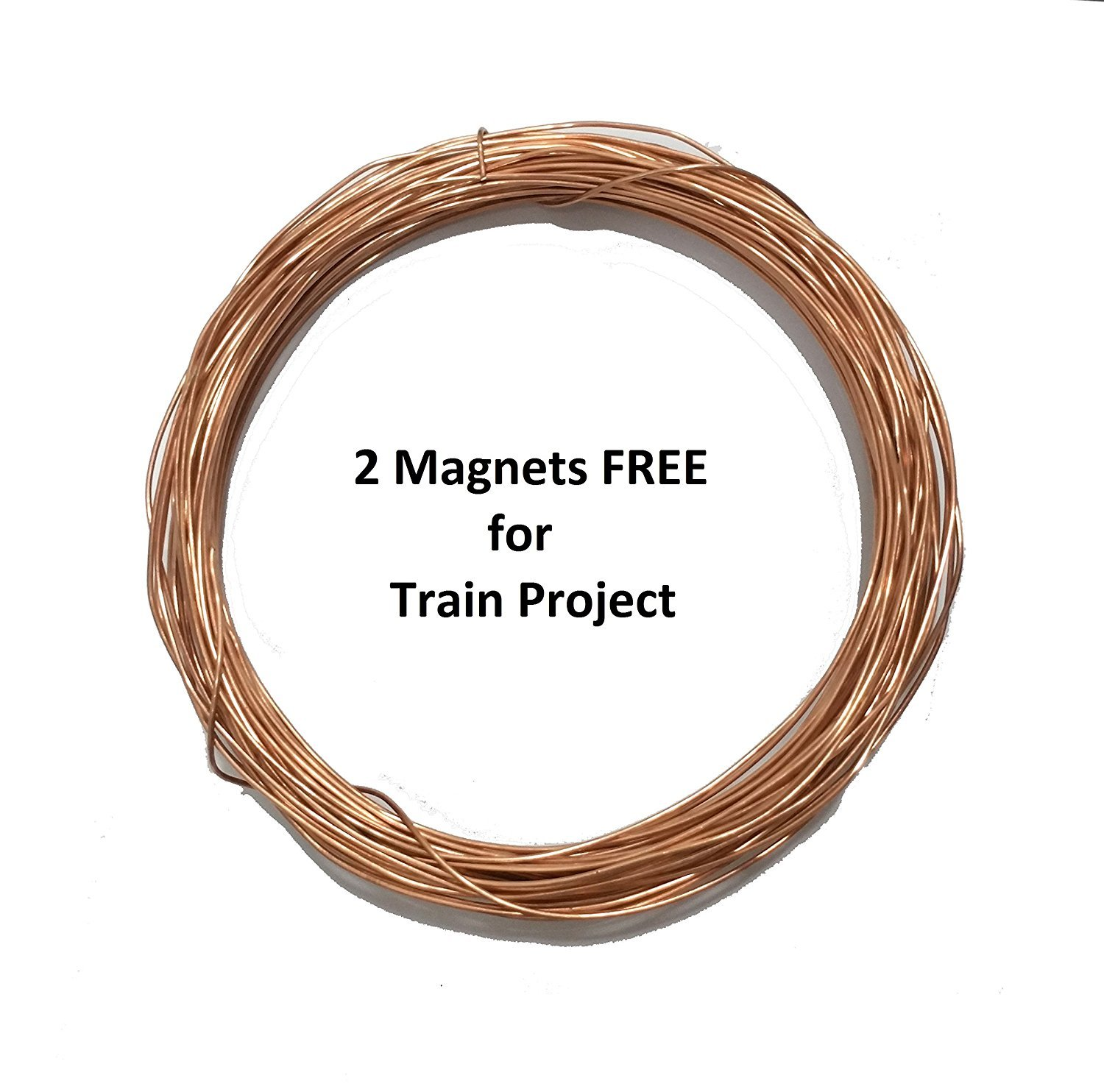 TRIOMAG 20 Meter Bare Copper Wire For Science Projects (Simple ...