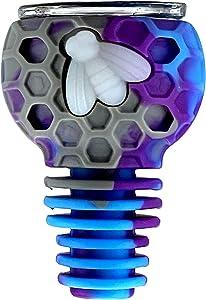 Yeko Home Decorative Herb Bowl 14mm Unbreakable Holder Bee Style Design Ornaments Mug(Gray/Purple/Sky Blue)