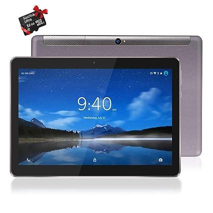 Tablet 10 Pulgadas 4G LTE WiFi BEISTA,Android 9.0,Ocho núcleos,2Ghz CPU,4GB RAM 64GB ROM,Cuerpo de Metal,GPS,OTG,Gris(Regalos: tarjeta SD de 32 GB)