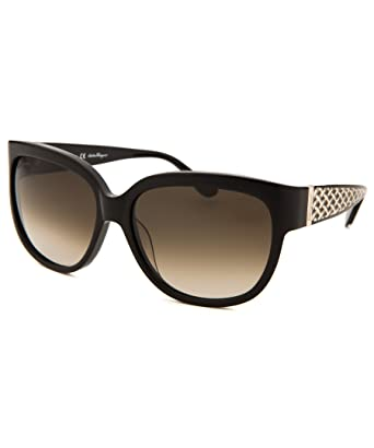 a749fc16f0 Óculos de Sol Salvatore Ferragamo Sf663s 001/56 Preto: Amazon.com.br ...